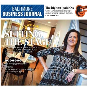 Baltimore Business Journal - Joy Waida - Joy Home Design